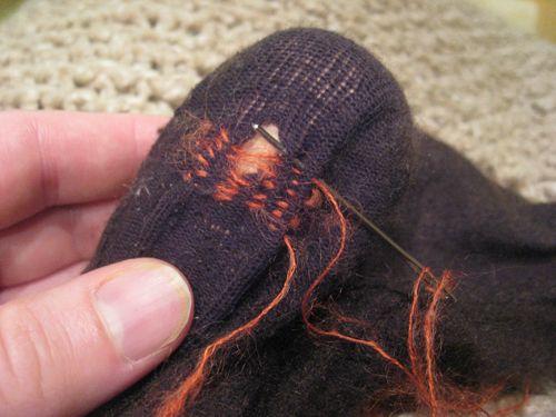 Hoe sokken stoppen en breiwerk repareren - Hobby.blogo.nl - Hobby.blogo.nl