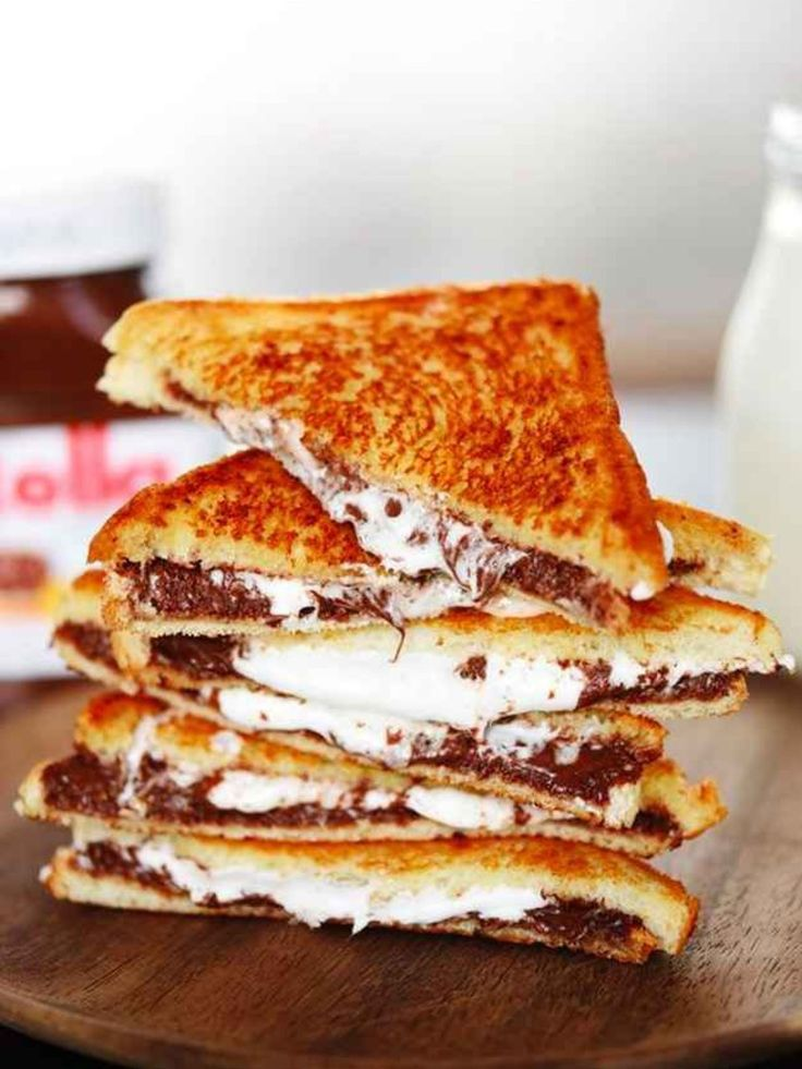 Des croque-monsieur qui changent - NUTELLA CHAMALLOW