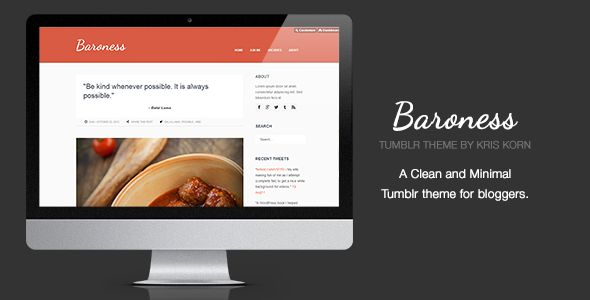 Baroness - Clean Tumblr Theme