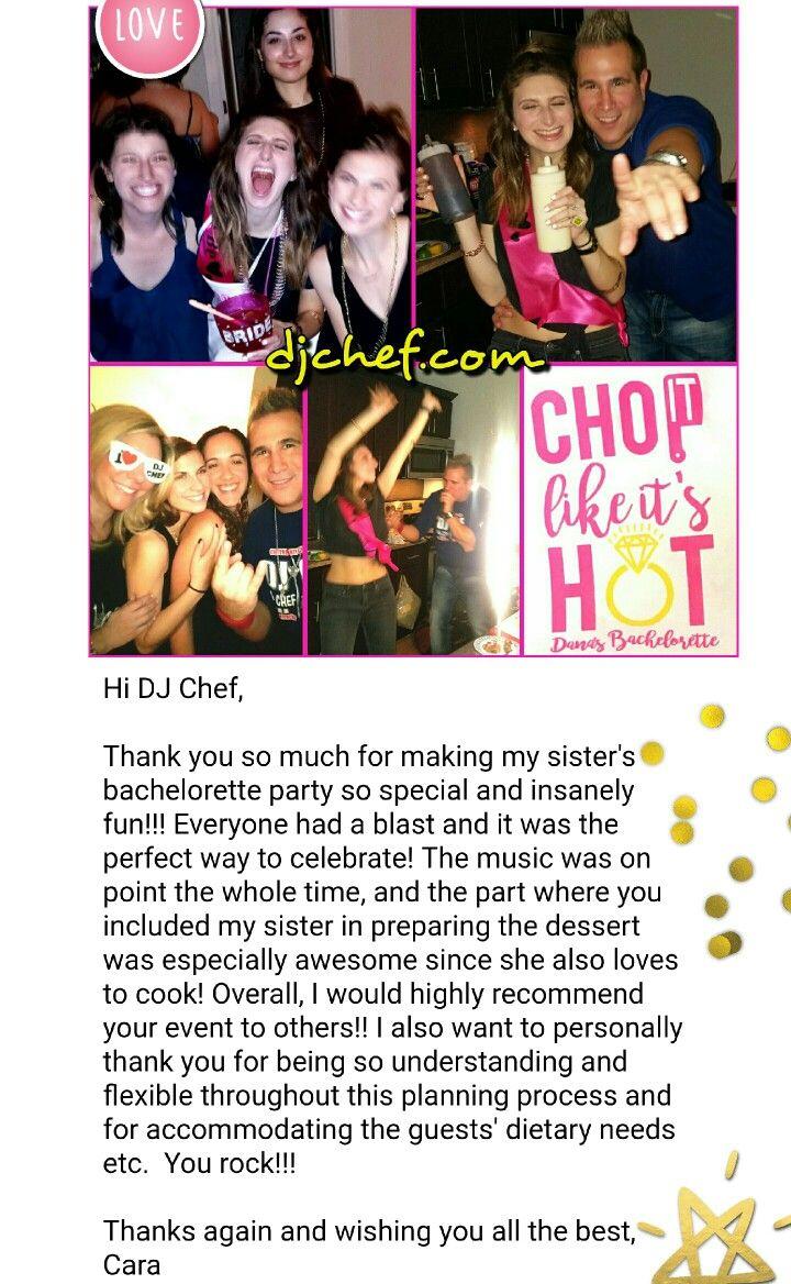 107 best DJ Chef Cooking Class Bachelorette Party ideas bridal ...