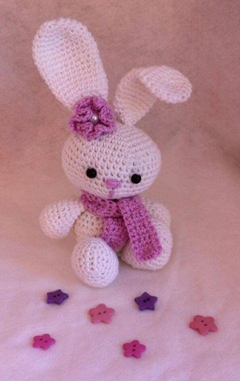 My little rabbit from the free amigurumi pattern -> http://www.tejiendoperu.com/amigurumi/conejo/