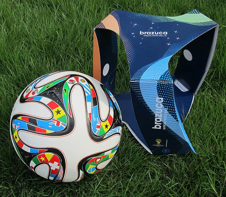 Top 2014 World Cup Memento FIFA Brazuca Match Ball Football Soccer Size5 in Box | eBay