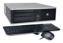 HP - Refurbished Desktop - Intel Core2 Duo - 4GB Memory - 160GB Hard Drive - Gray/Black