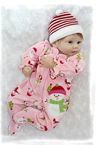 Nicery Morbido Silicone Bambola Reborn Bambino 22inch 55 Centimetri Magnetica Bocca Bella Realistica Ragazzo Sveglio Giocattolo Ragazza Di Colore Rosa Del Pupazzo Di Neve Baby Doll A3IT