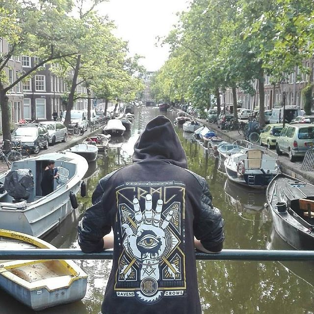 "@siobhanroni reppin our ""Teethed Glory"" Jacket in #amsterdam - DM us for a discount code next time you order @siobhanroni  Only one left available at www.crmc-clothing.co.uk 