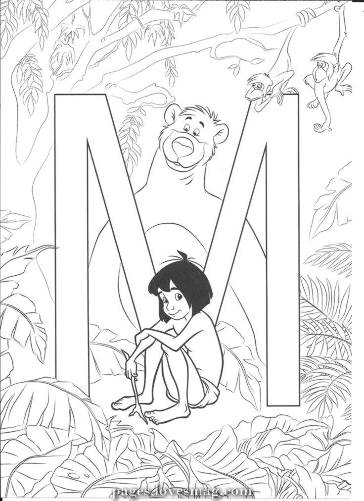 Amazing mougli mougli Disney coloring pages, Disney