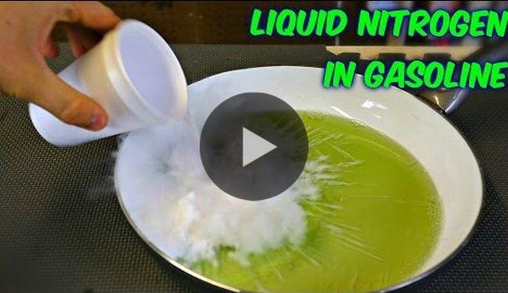 This is what happens when you pour liquid Nitrogen in Gasoline! - http://vixert.com/happens-pour-liquid-nitrogen-gasoline/