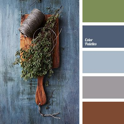 Rich denim colour harmoniously mixes with the colour of olive tree. These colours will look good in any room of the apartment..
