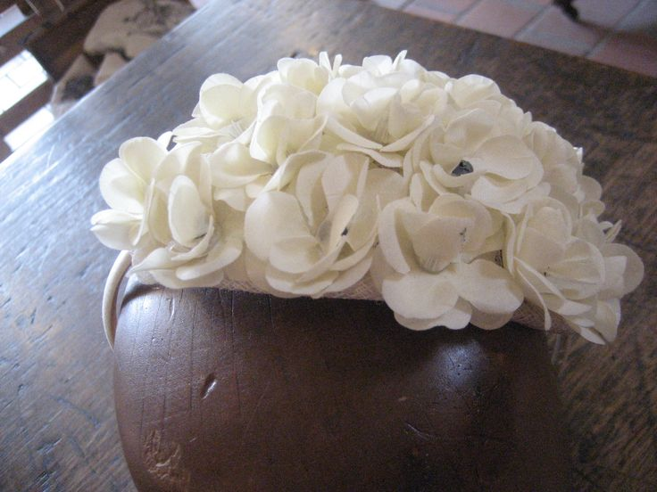 50s style flower headband