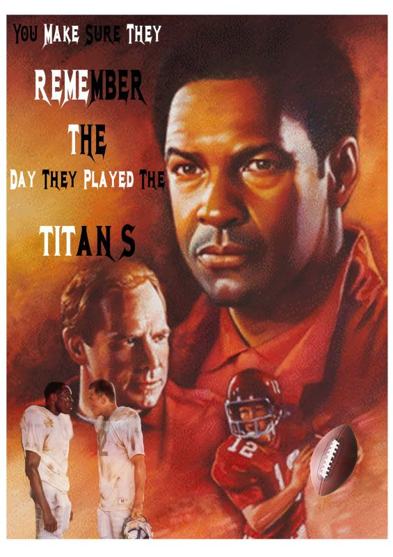 essay movie remember titans In the movie remember the titans there are many lessons that every person  should learn in their life one of the most important lessons is that of racism in  this.