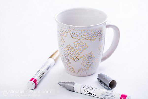 how to make a sharpie mug with oil based Sharpies