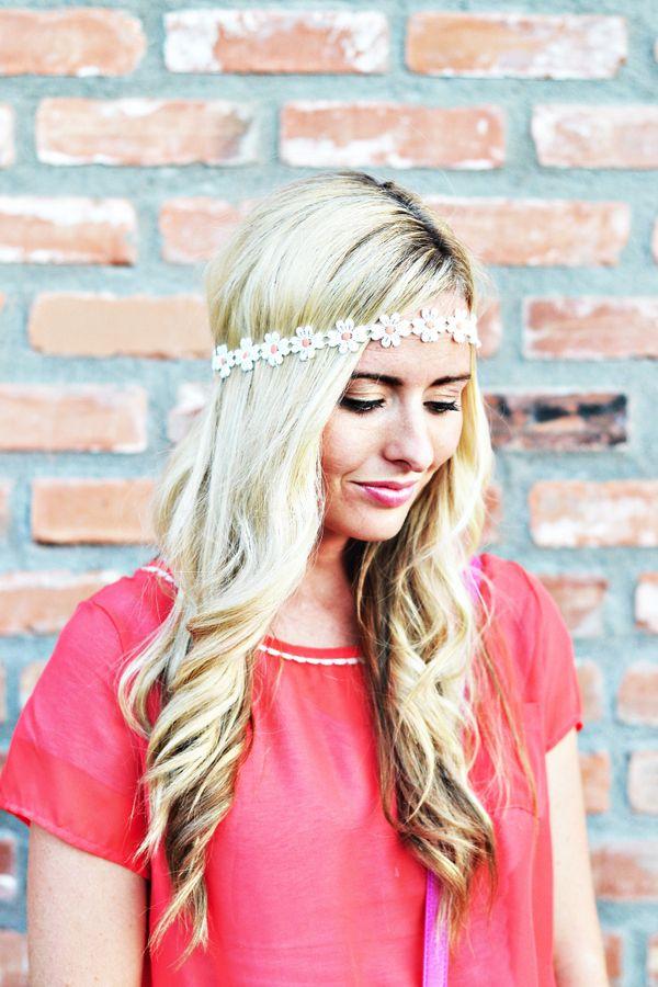 2019 year look- How to flower wear headband