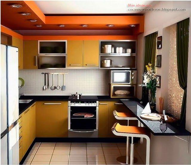 Mejores 9 imágenes de Deco casas en Pinterest | Cocinas pequeñas ...