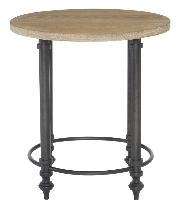365 127T 365 127 Antiquarian Round End Table Top And Metal End Table Base