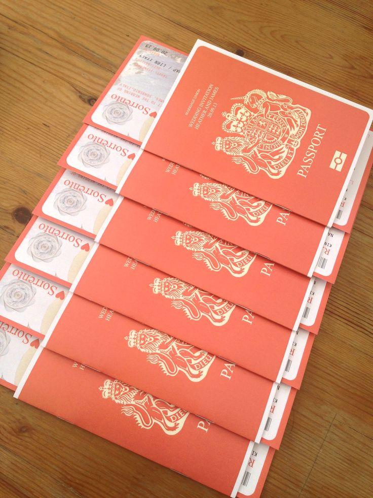 Passport Wedding Invitations / Travel Wedding / Wedding Abroad / Wedding…