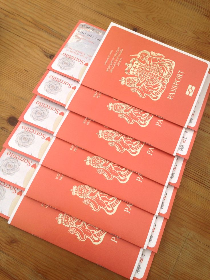 Passport Wedding Invitations / Travel Wedding / Wedding Abroad / Wedding invitations / Bespoke Wedding Stationery / www.brandnewweddings.co.uk ©TheBr&newstudio LTD