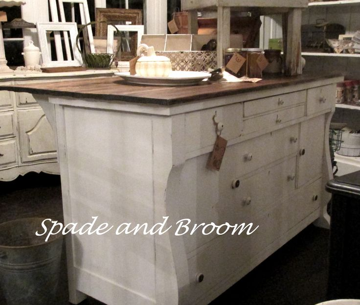 Kitchen Island Made From Antique Buffet: 134 Best Images About {Spade And Broom} On Pinterest