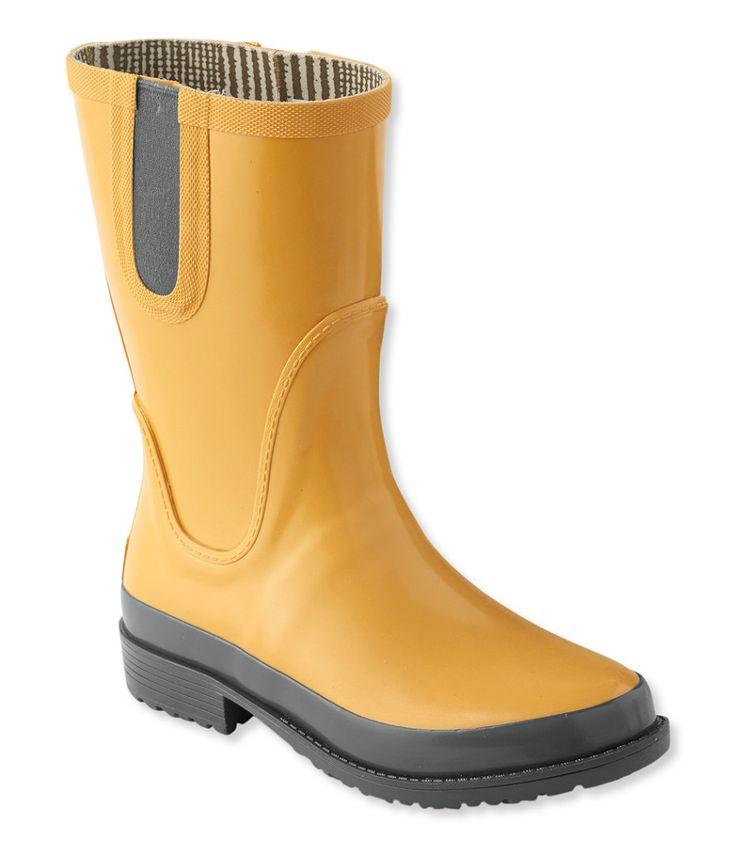 Women's L.L.Bean Wellies Rain Boots, Mid