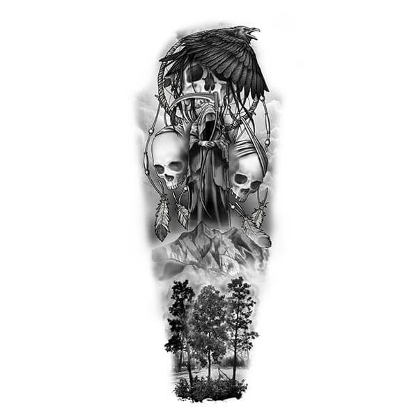 Nature and Death Tattoo Art
