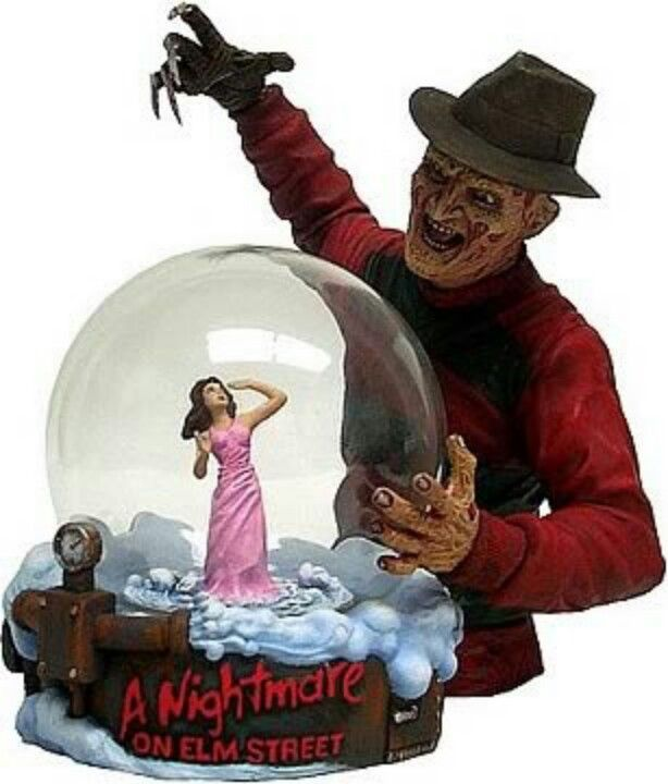 a nightmare on elm street freddy krueger snow globe - Freddy Krueger Halloween Decorations