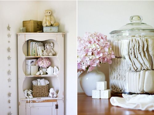 If I were to have another girl!    white rustic antique vintage nursery corner