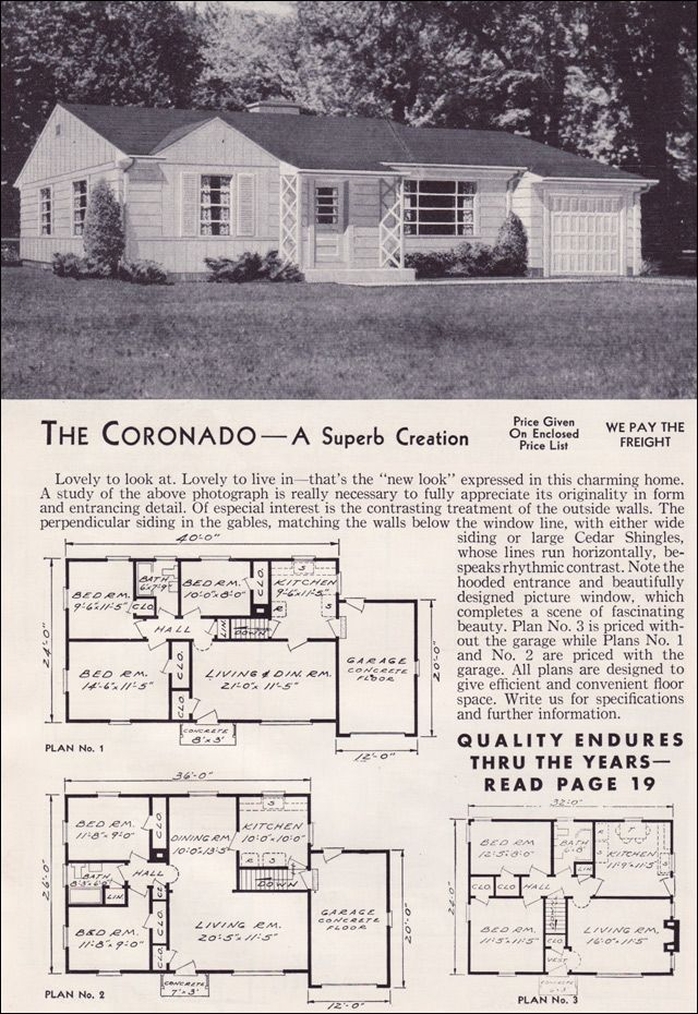 1951 Aladdin Kit Houses   The Coronado