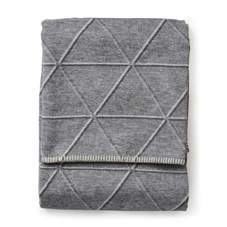 Diamond Sylt Throw Grey - Throws and Blankets - Soft Furnishings - Home #GrandDesignsHeals