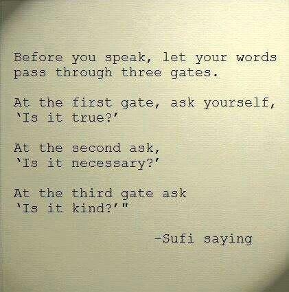 Antes de falar. ..