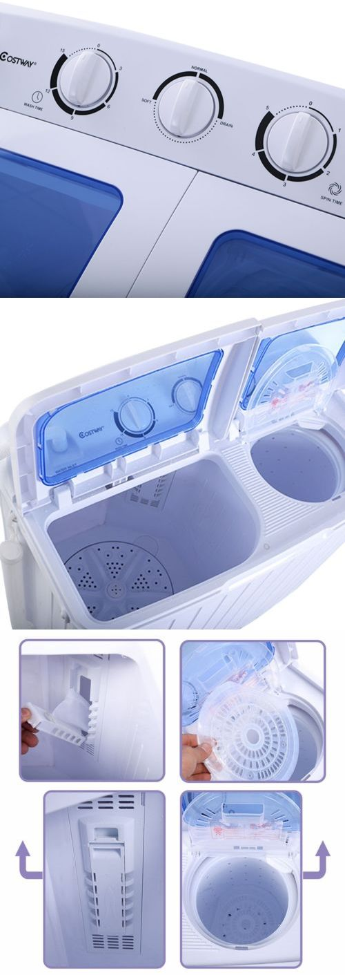 Washing Machines 71256: Washer And Dryer Combo Portable Washing Machine  11Lbs Stackable Cheap All In