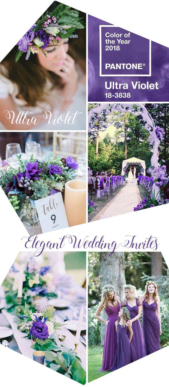 Fresh ultra violet purple and greene spring wedding color inspiration