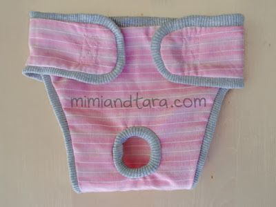 Mimi & Tara - dog diaper pattern