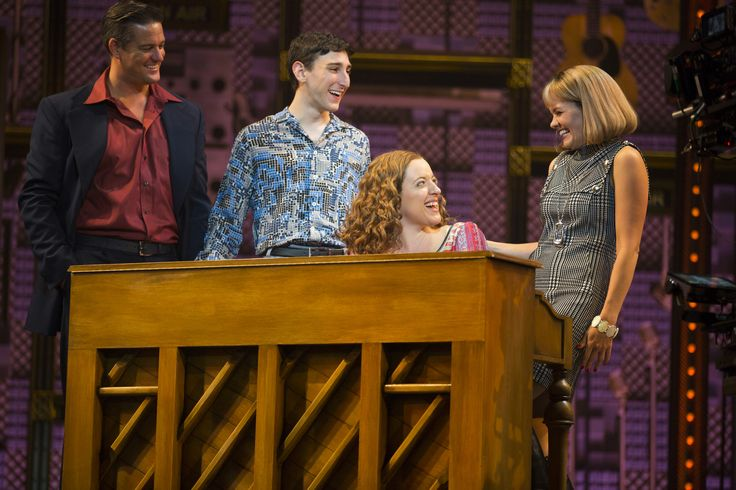 BEAUTIFUL: THE CAROLE KING MUSICAL at ASU Gammage November 22-27, 2016 Curt Bouril, Ben Fankhauser, Abby Mueller & Becky Gulsvig, Photo: Joan Marcus