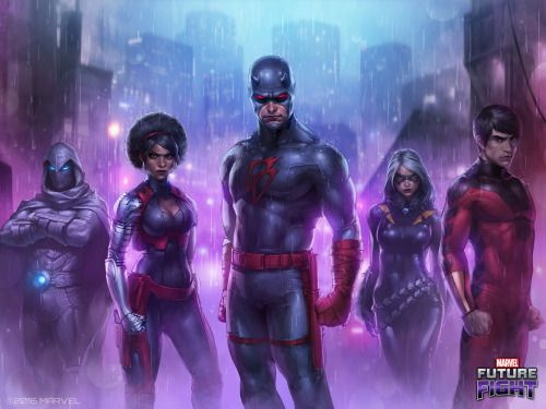 Marvel Future Fight: Daredevils - Stephanie Long & Jeehyung Lee