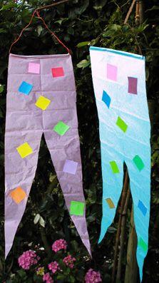 Fabriquer des bannières en papier de soie