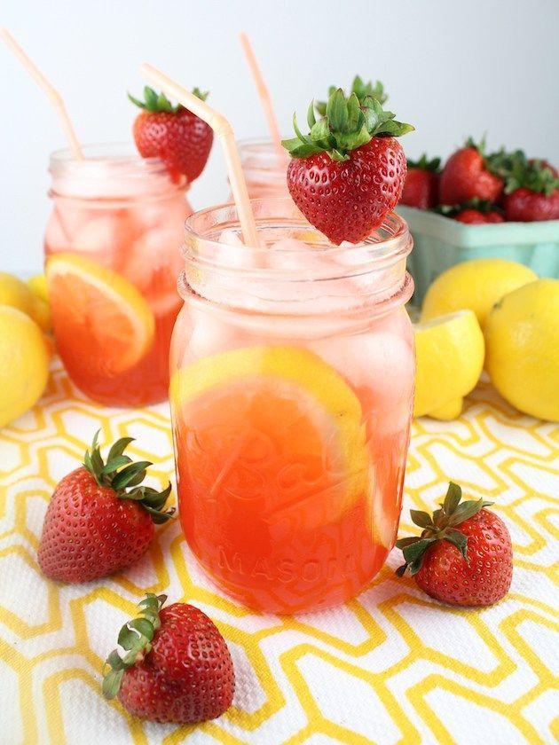 Loaded Strawberry Lemonade is the poster child for summer's ultimate cocktail: fresh lemon juice, strawberry liquor, vodka and fresh strawberries of course! #strawberrylemonade http://tasteandsee.com…