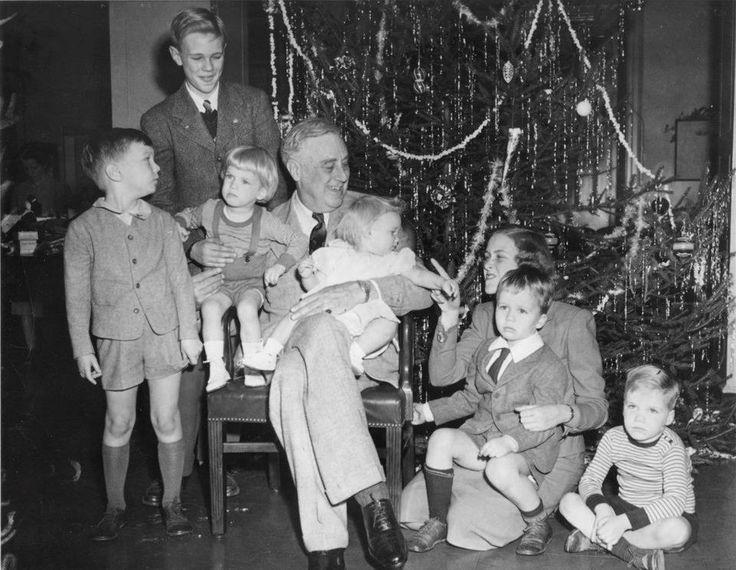 FDR in FDRL Hyde Park New York celebrating Christmas