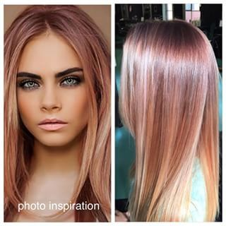 rose gold hair images - Google Search