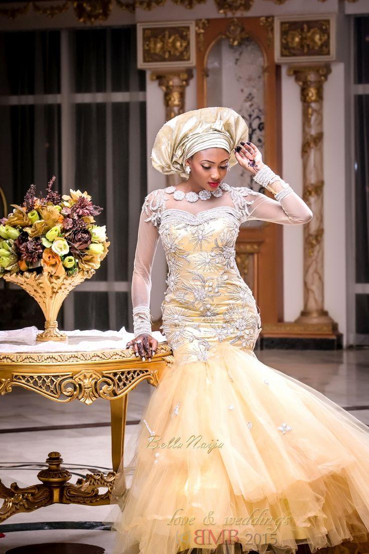 BellaNaija Bride, Amina, Stunning in a Gold Jewel-Embellished Dress | Amina and Nasir's | BMB Photography