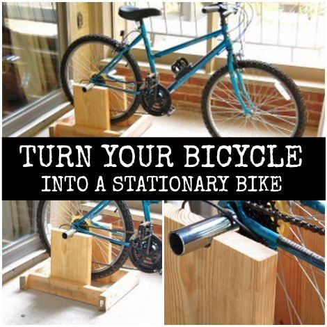 DIY Stand To Turn Your Bicycle Into A Stationary Bike | Get to peddling for some exercise. Build a stand to convert your bicycle into a stationary bike.