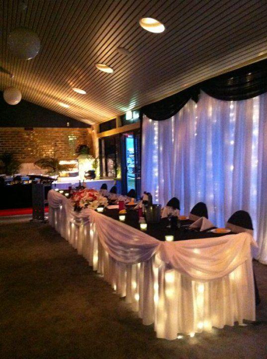 Mandurah Wedding Venue Bridal Table #wedding #mandurah #mofsc #events #venue #reception #dining www.mofscevents.com.au
