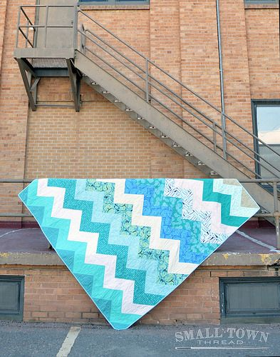 Chevron for Colleen | triangle piecing pattern with printable, size twin to king