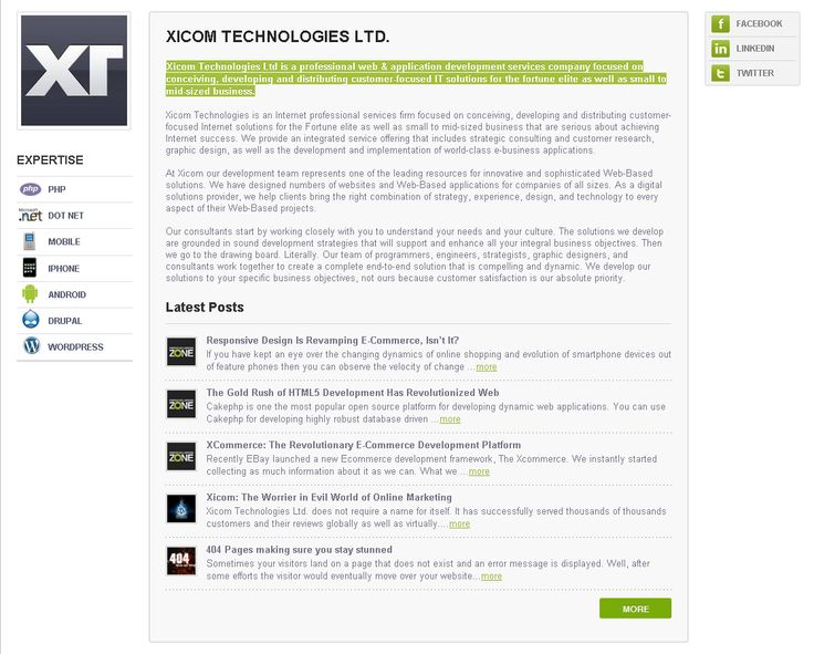 Check out the service review for xicom technologies from phpdeveloperszone.com http://www.phpdeveloperszone.com/xicom/