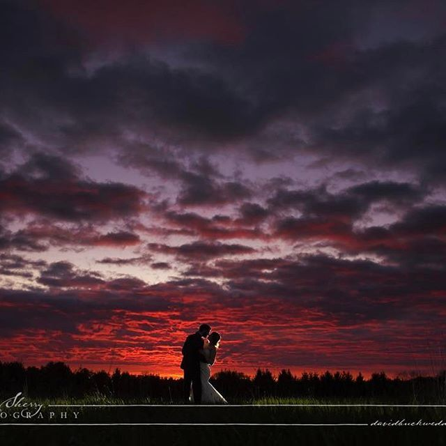 We went out for some sunset pictures and the colour was ok, then it got better, and better, and better until we were gifted this sky! What an awesome end to an awesome wedding. Congratulations Kyle & @aleahhazan This is why we love going out for night pho