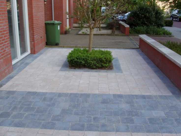 Bestrating oprit getrommelde steen 15x15 tuin pinterest search - Outs allee tuin ...