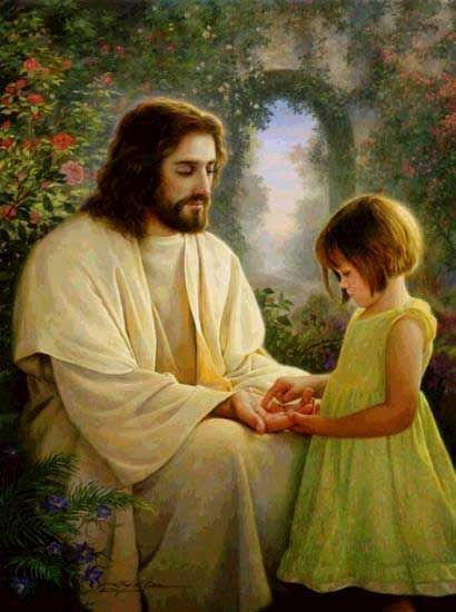clip art of children with the savior | clip art christ and little child | ... pages, Jesus Christ images ...
