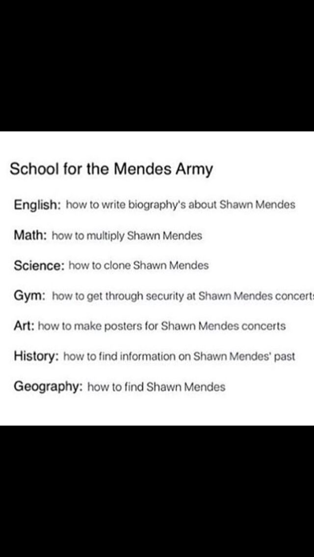 There needs to be a school like this for real and Shawn can be my bf omg imagine that 😍👌🏻
