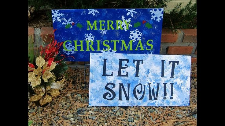 Recycled Political Sign turned into a Holiday Sign ~ Featuring Miriam Joy