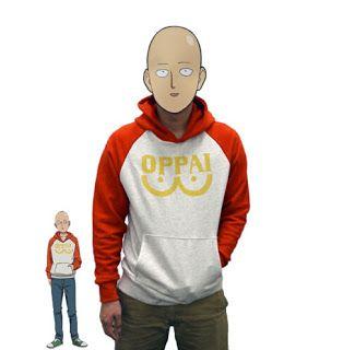 """Anime One Punch Man - Hero Saitama """"Oppai"""" Hoodie Cosplay Costume. #onepunchman #oppai #anime #cosplay #hoodie #saitama  http://animemarketonline.blogspot.com/"""