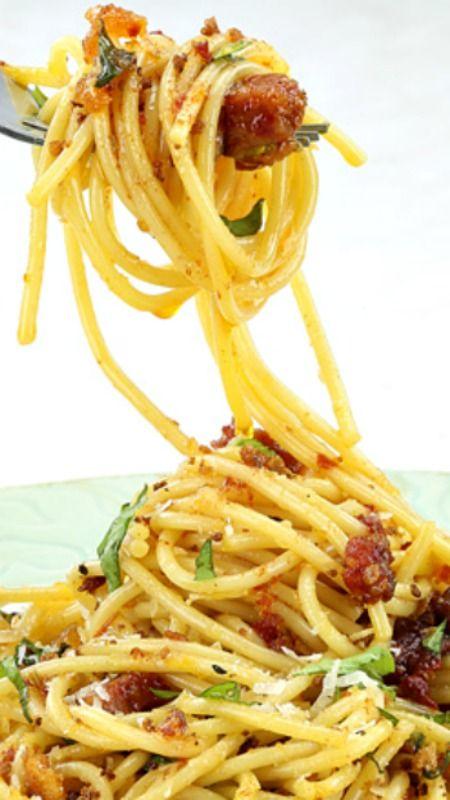 Spicy Spaghetti with Chorizo Recipe