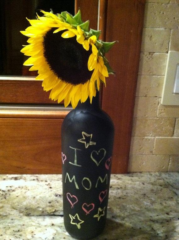Chalk board vase/ candle stick holder :)    $10
